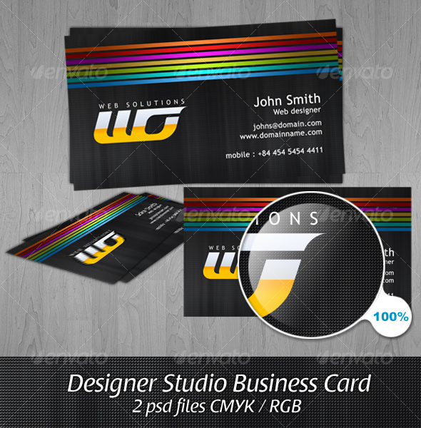 Designer Studio Business Card - Creative Business Cards