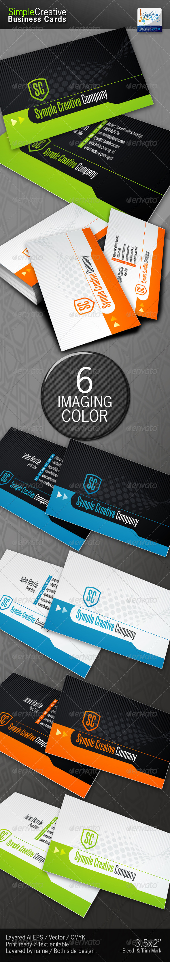 Simple Creative Business Cards - Corporate Business Cards