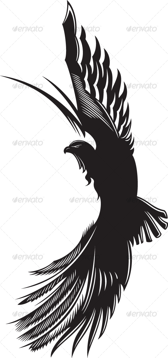 White Falcon Bird Tattoo White Falcon Bird Tattoo
