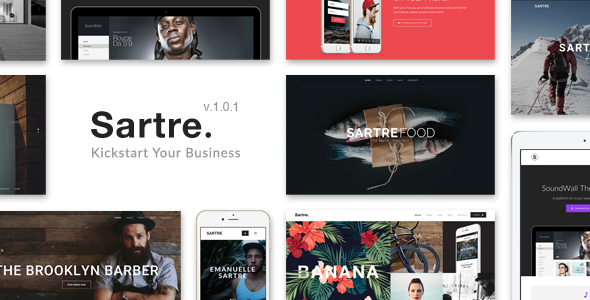Sartre - Creative Bootstrap HTML Template