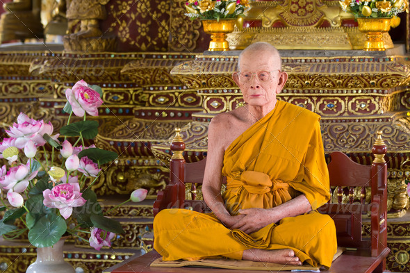 wax monk - Stock Photo - Images