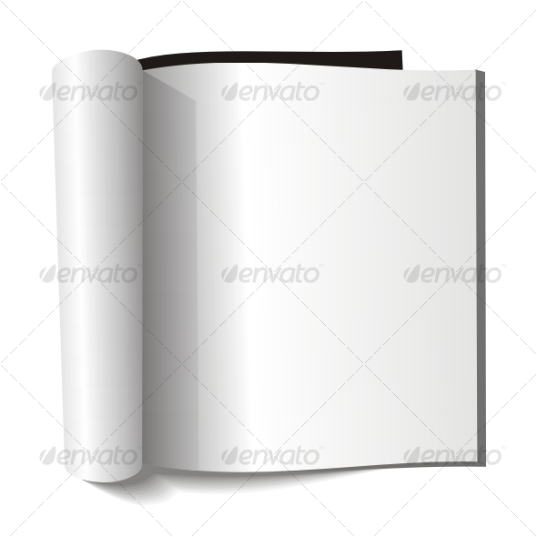 Blank magazine. Blank page. - Objects Vectors