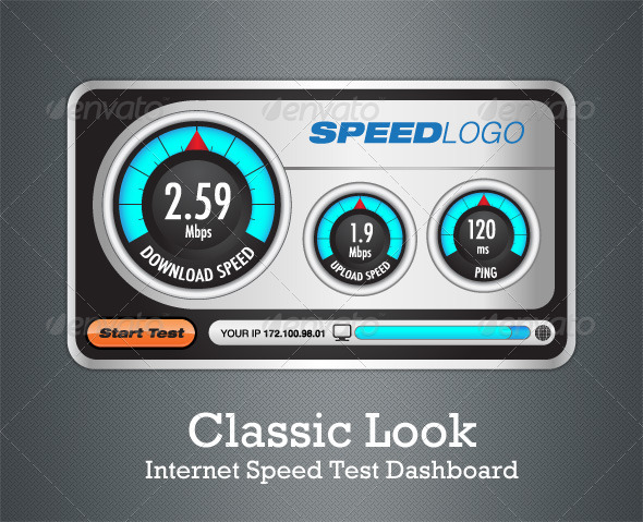 GraphicRiver Classic Look Internet Speed Test Dashboard 1149241