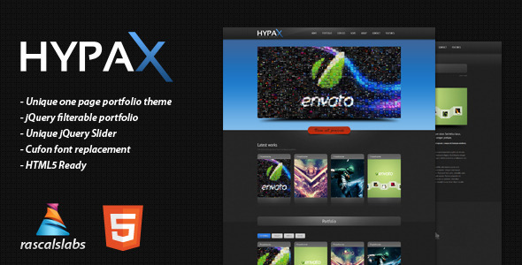 ThemeForest - PageOne – HTML one page Portfolio Site - sunDox