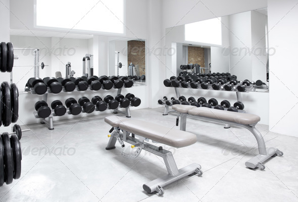 Stock Photo - PhotoDune Fitness club weight training equipment gym 1445686