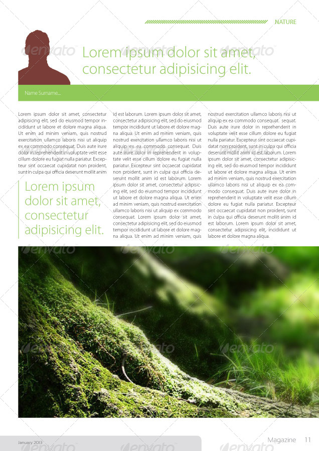 Indesign Magazine Template in A4 Format