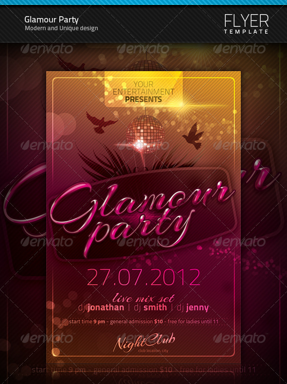 GraphicRiver Glamour Party Flyer 1436756