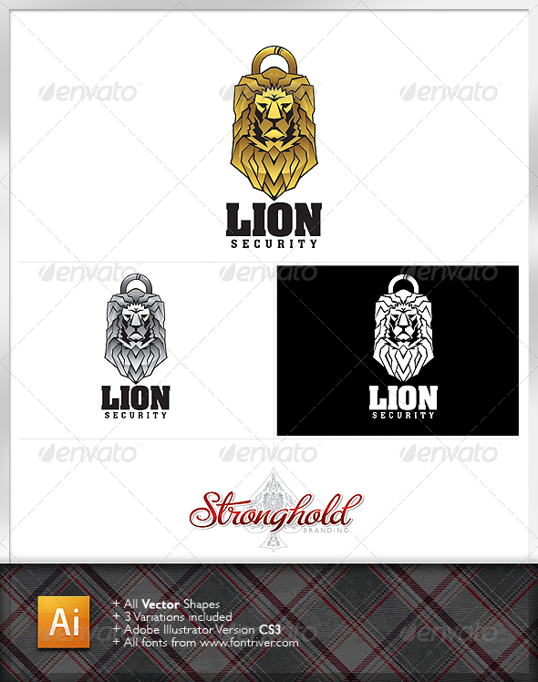 Lion Security logo - Animals Logo Templates