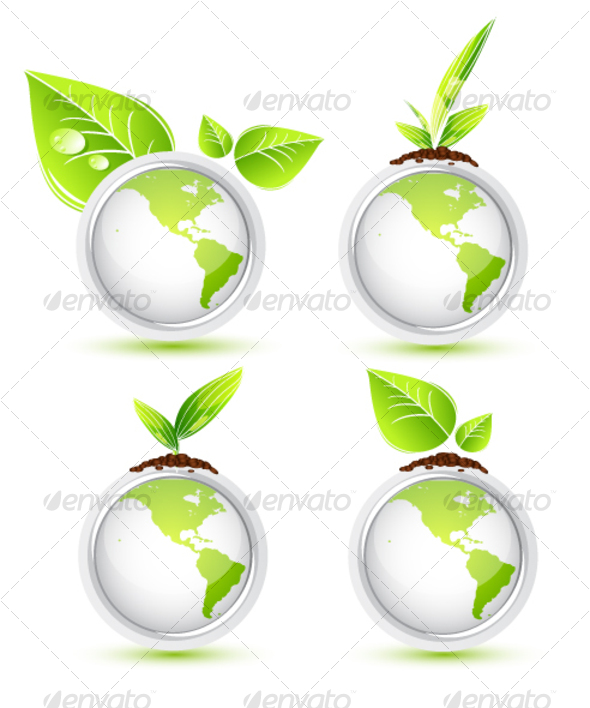 Green Earth. Icons - Web Icons