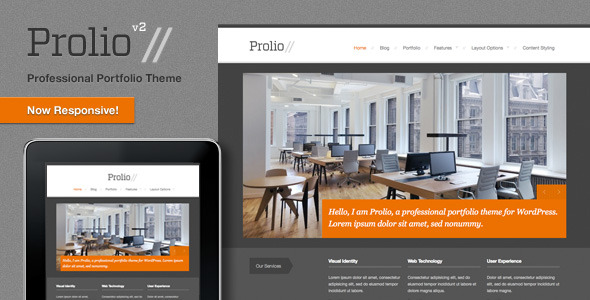 Prolio, a Powerful Portfolio Wordpress Theme