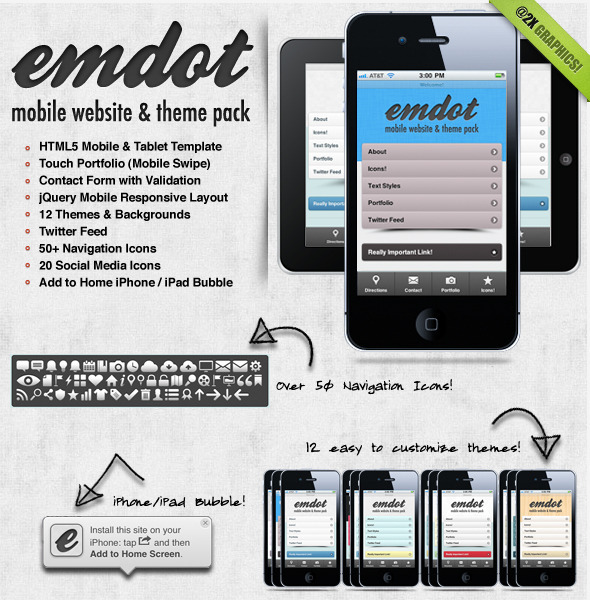 Emdot - Mobile Website & Theme Pack - Mobile Site Templates