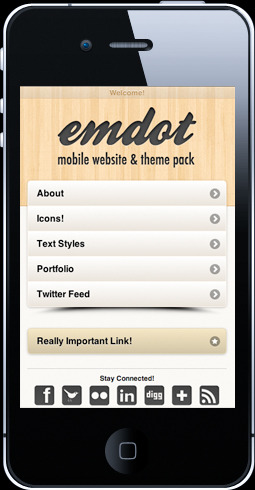 Emdot - Mobile Website & Theme Pack - One of the 12 included themes (color schemes).