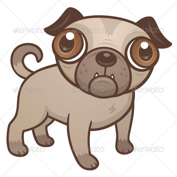 GraphicRiver Pug Puppy Cartoon 170983