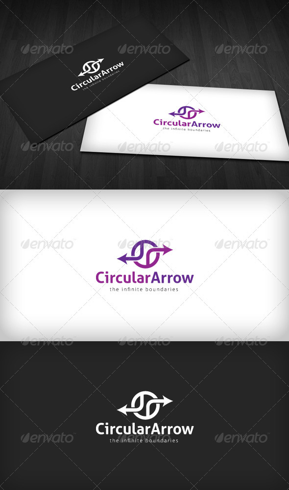 Circular Arrow Logo - Vector Abstract