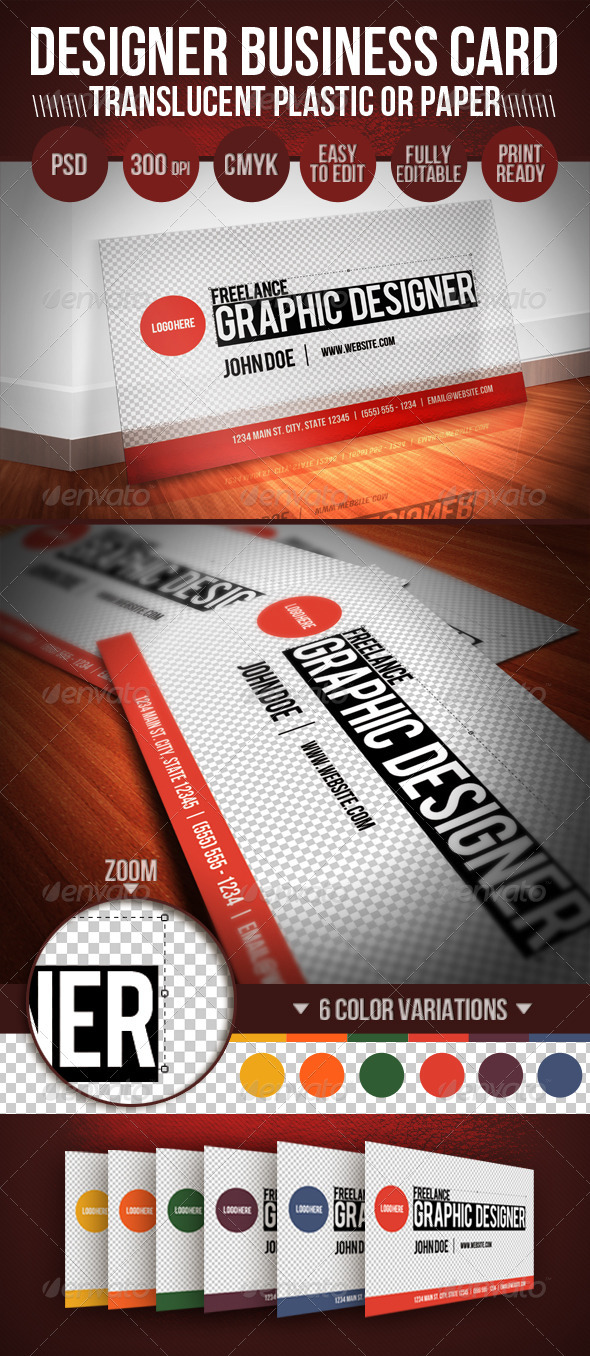 Translucent Plastic Designer Business Card - Creative Business Cards