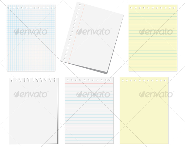 Isolated pages of notebook - Backgrounds Decorative