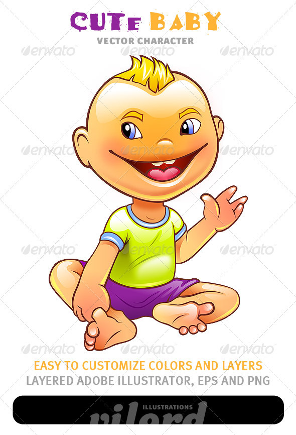 Cute Baby Mascot - People Characters