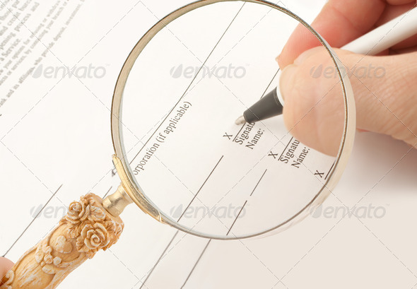 business signing - Stock Photo - Images