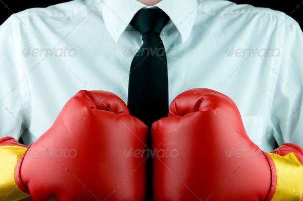 Business boxing gloves (business tough) - Stock Photo - Images