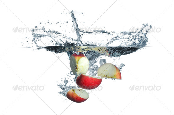 Apple splash - Stock Photo - Images