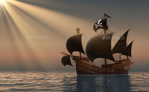 пиратская лодка фото