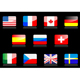 Glossy national flags on the black - GraphicRiver Item for Sale
