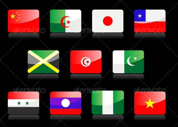 GraphicRiver Glossy national flags 57380