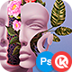Floral Faces - Photoshop Ac-Graphicriver中文最全的素材分享平台