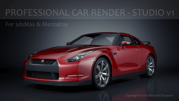 Professional Car Render - Studio v1 - 3DOcean Item for Sale