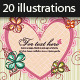 20 Valentines Day Vector Illustrations - GraphicRiver Item for Sale
