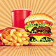 free logo template Fast Food Flyer Menu Restaurant A4