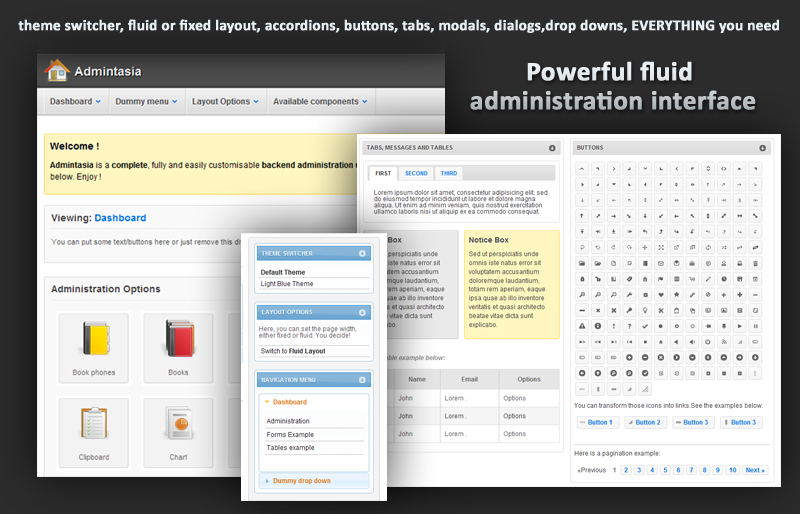 Admintasia-Powerful backend admin user interface