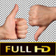 Hands - Wipe Transition               (Stock Footage)