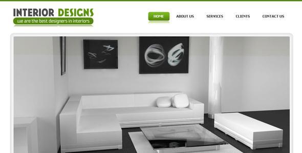 Interior designs simple pro elegant template by settysantu themeforest - Website for interior design ideas ...