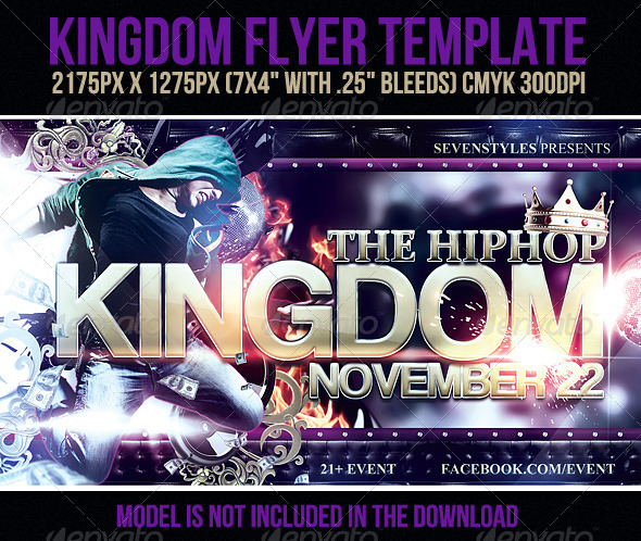 Kingdom Flyer Template - Clubs & Parties Events