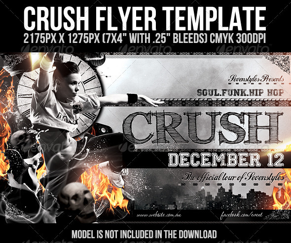 Crush Flyer Template - Clubs &amp; Parties Events