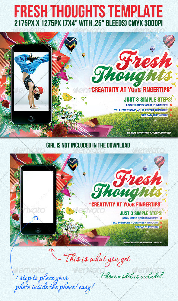 FreshThoughts Flyer Template - Clubs &amp; Parties Events