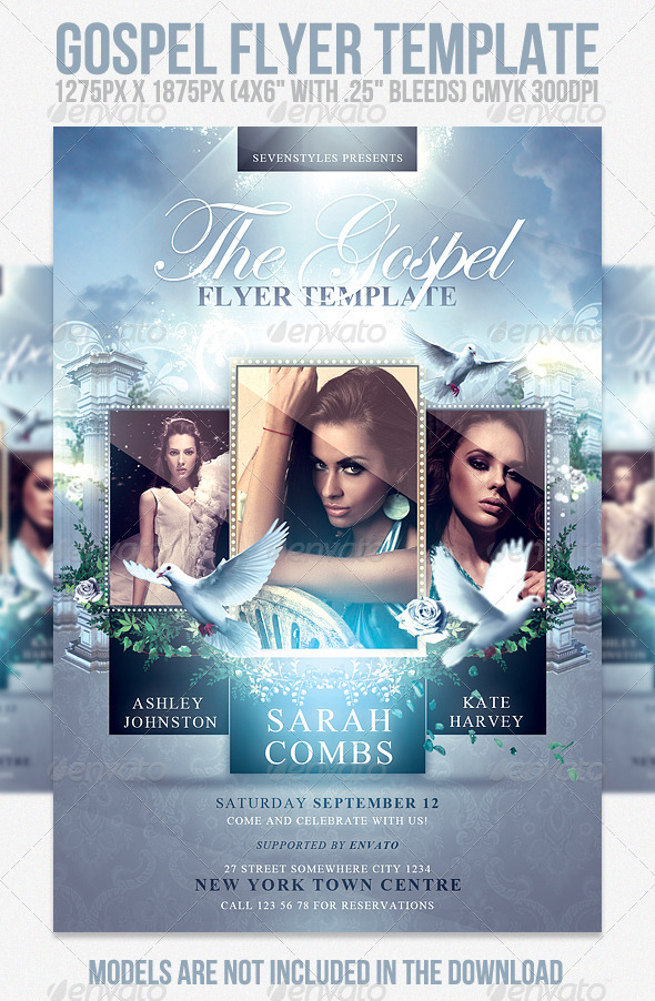 Gospel Flyer Template - Church Flyers