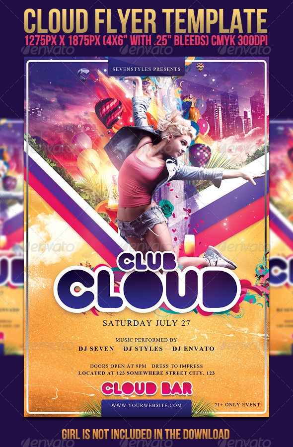 Cloud Flyer Template - Clubs & Parties Events