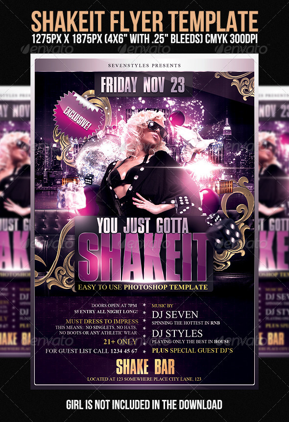 GraphicRiver Shakeit Flyer Template 400677