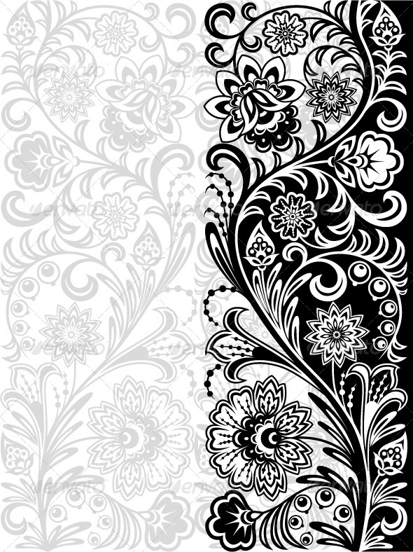 Decorative floral background - Patterns Decorative