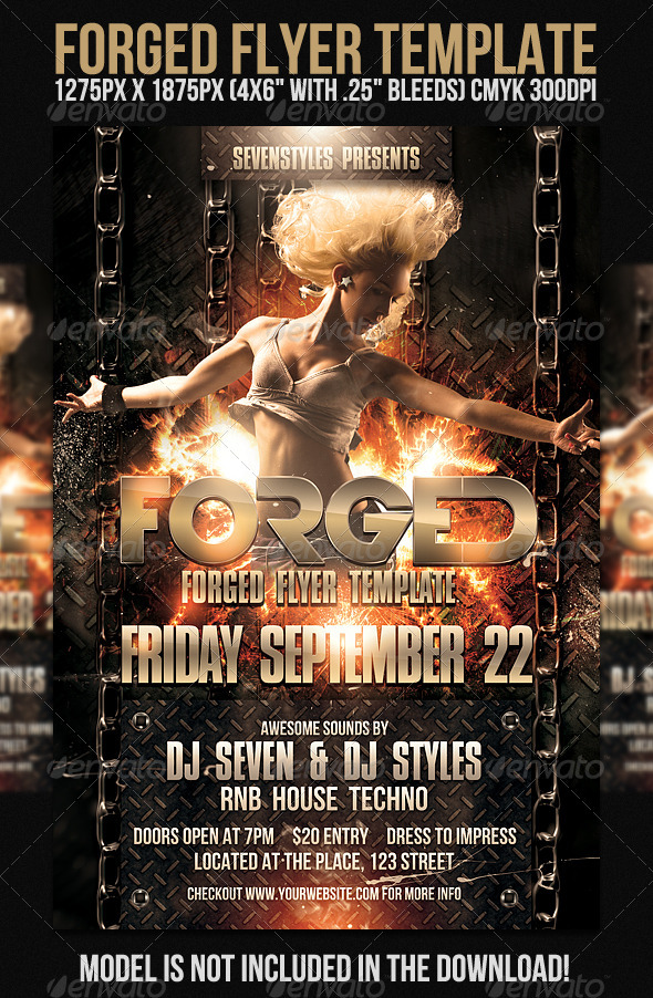 Forged Flyer Template - Clubs & Parties Events
