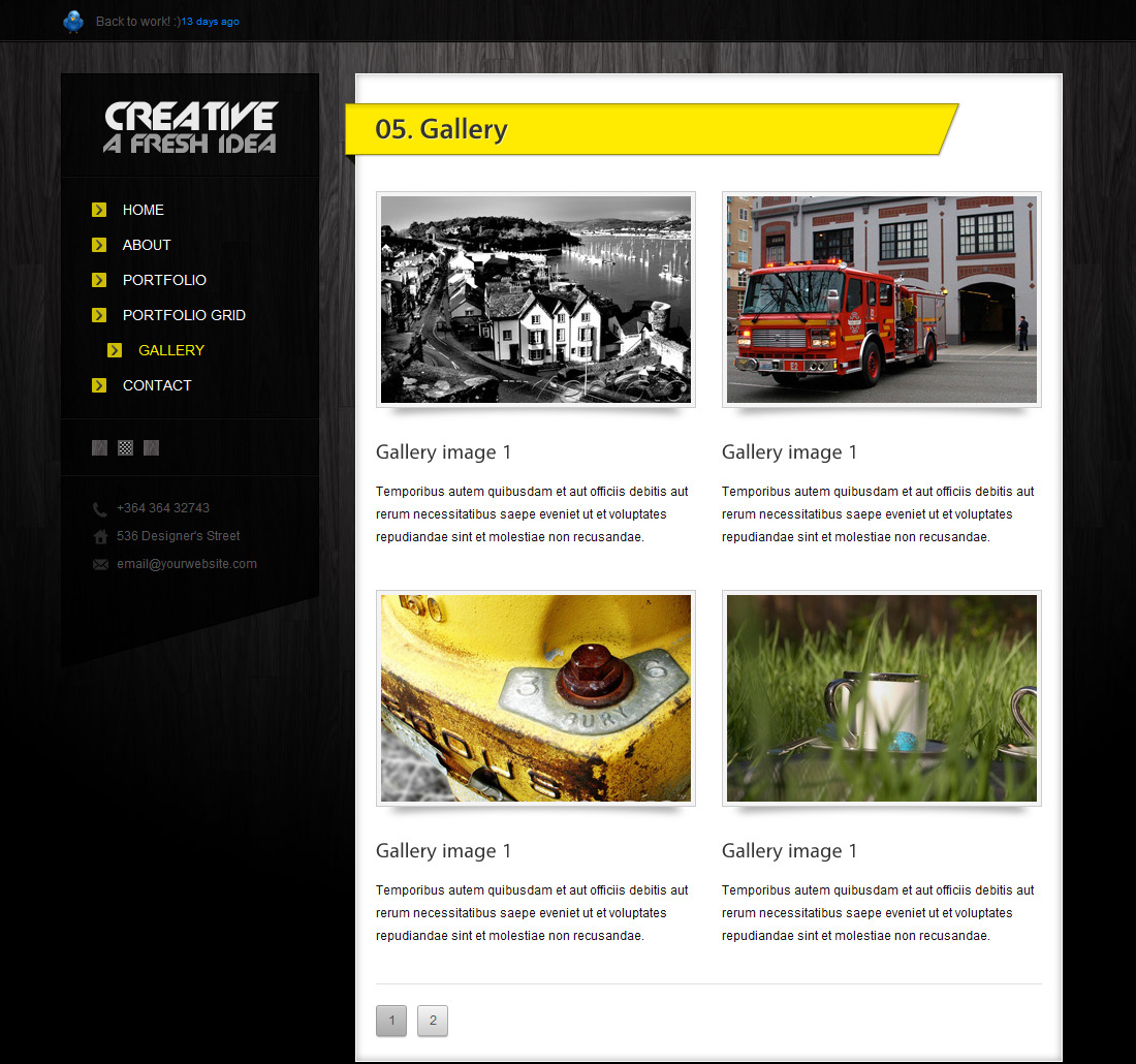 CREATIVE | HTML/CSS PORTFOLIO TEAMPLATE