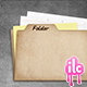Cardboard Folder and Papers - GraphicRiver Item for Sale