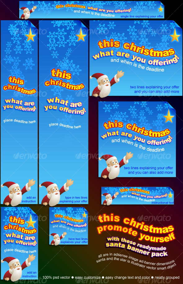 santa banner pack - Miscellaneous Web Elements