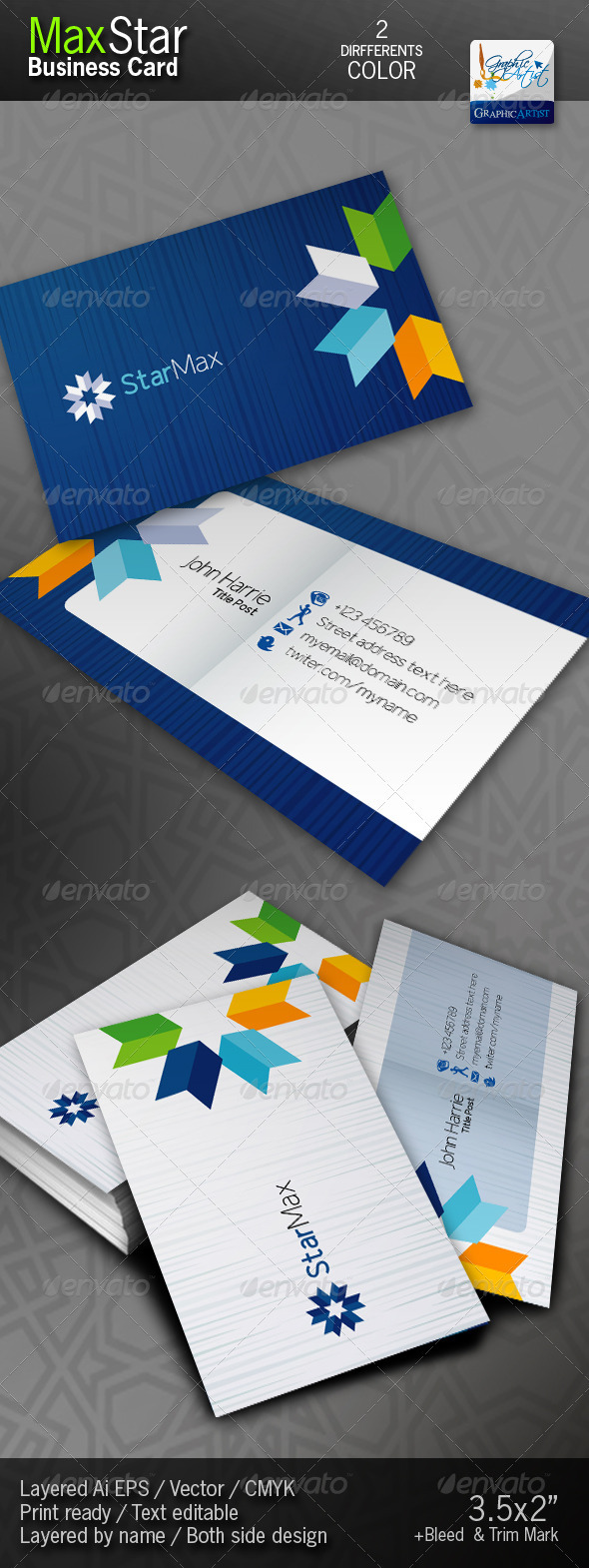 StarMax Business Cards - Corporate Business Cards