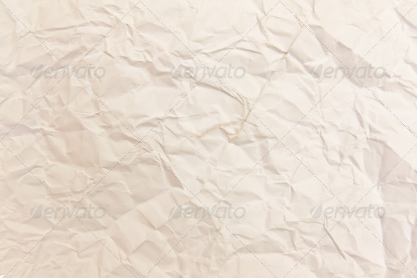 White crumpled paper background texture - Stock Photo - Images