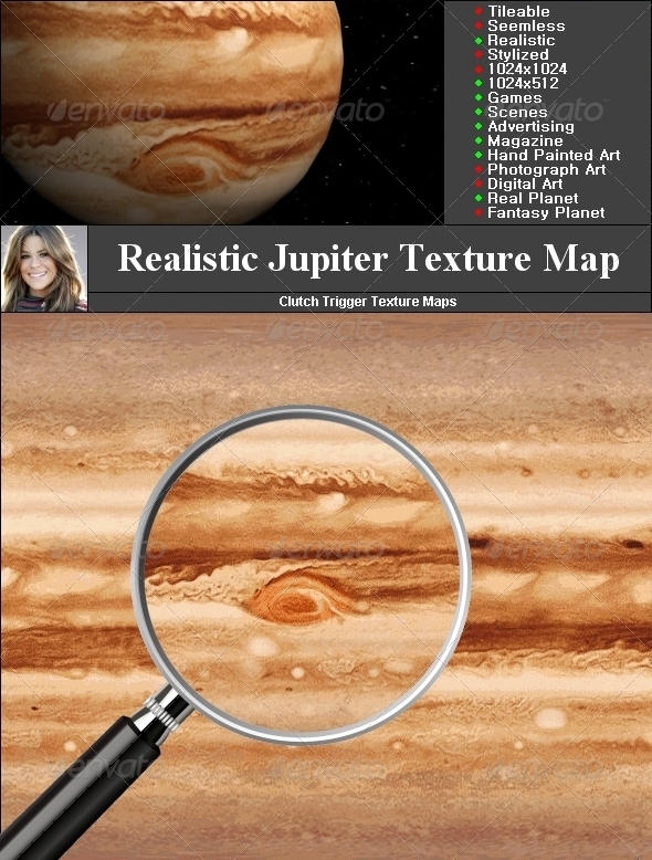 Jupiter Texture Map - 3DOcean Item for Sale