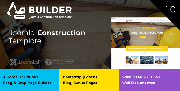 builder joomla construction template by ithemeslab themeforest. Black Bedroom Furniture Sets. Home Design Ideas