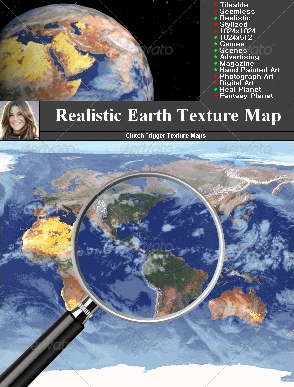 3DOcean Earth Texture map 1464738